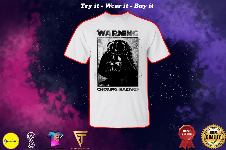 star wars darth vader warning choking hazard shirt