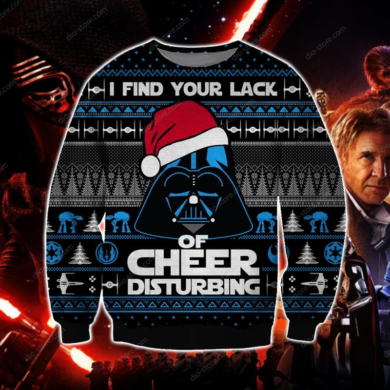 star wars i find your lack of faith disturbing ugly christmas sweater 2