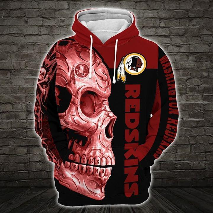 sugar skull washignton redskins football team full over printed hoodie 1