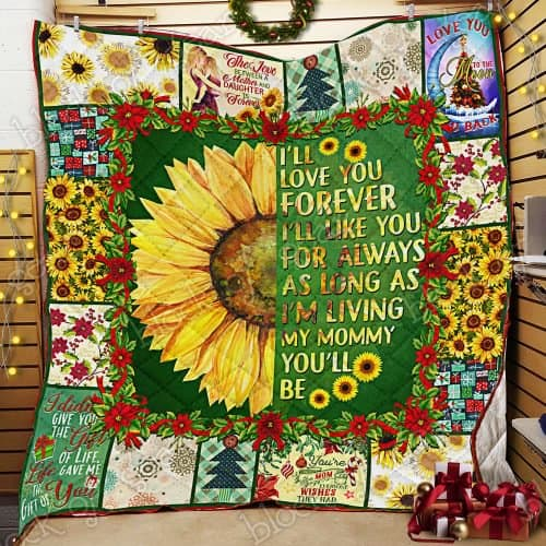 sunflower i will love you forever my mommy quilt 2