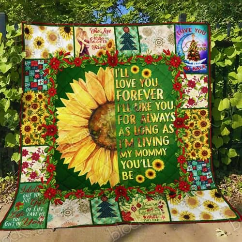 sunflower i will love you forever my mommy quilt 4