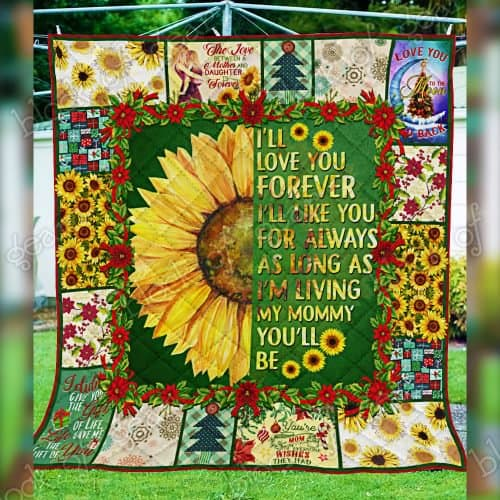 sunflower i will love you forever my mommy quilt 5
