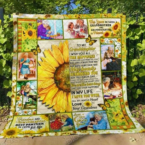 sunflower to my granddaughter i wish you all the happiness love your grandma quilt 4