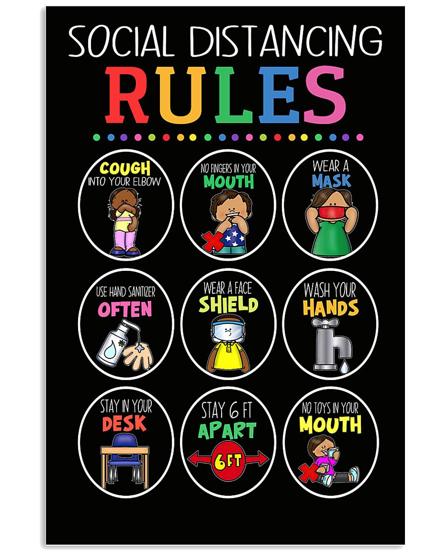 teacher social distancing rules poster 2