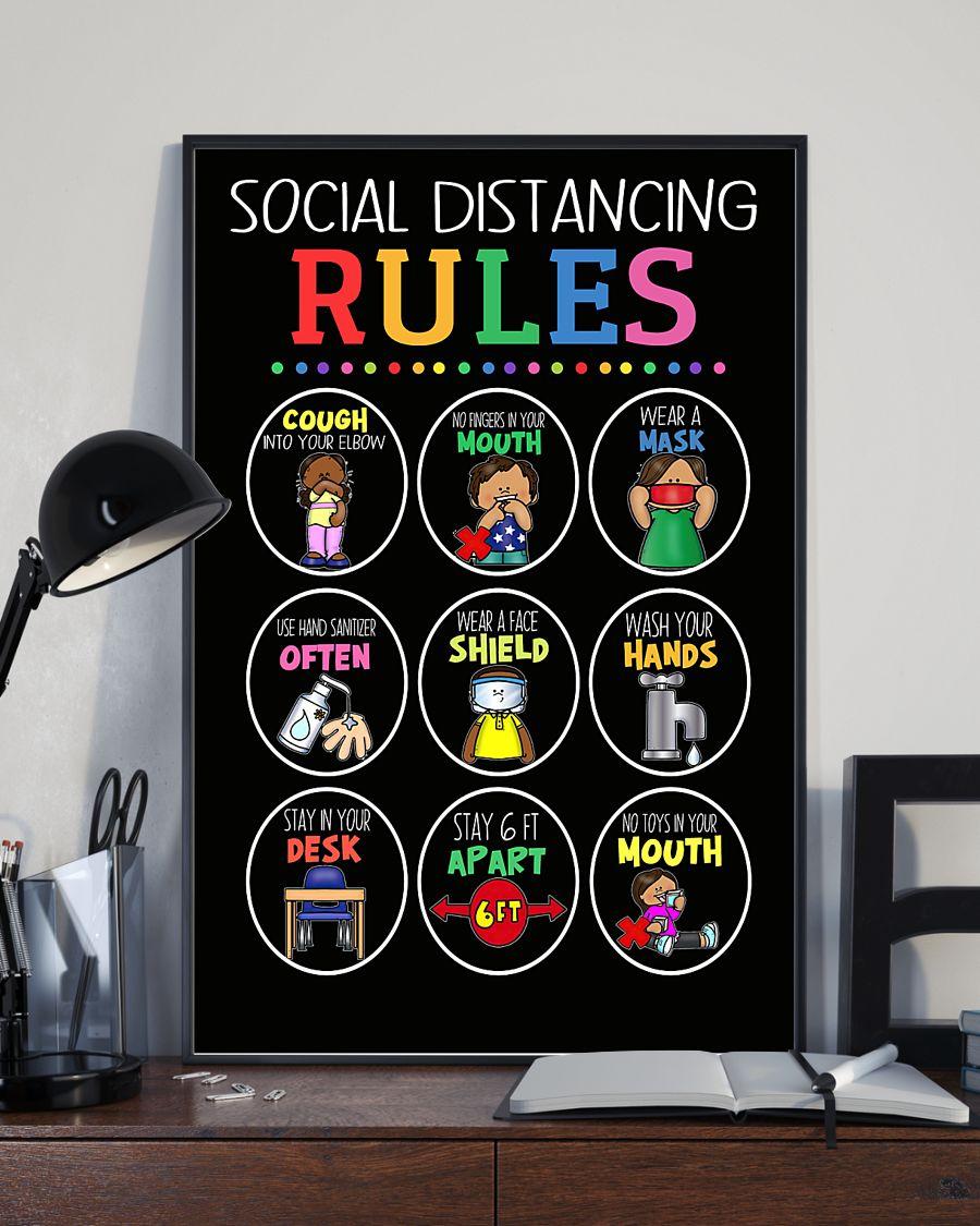 teacher social distancing rules poster 5