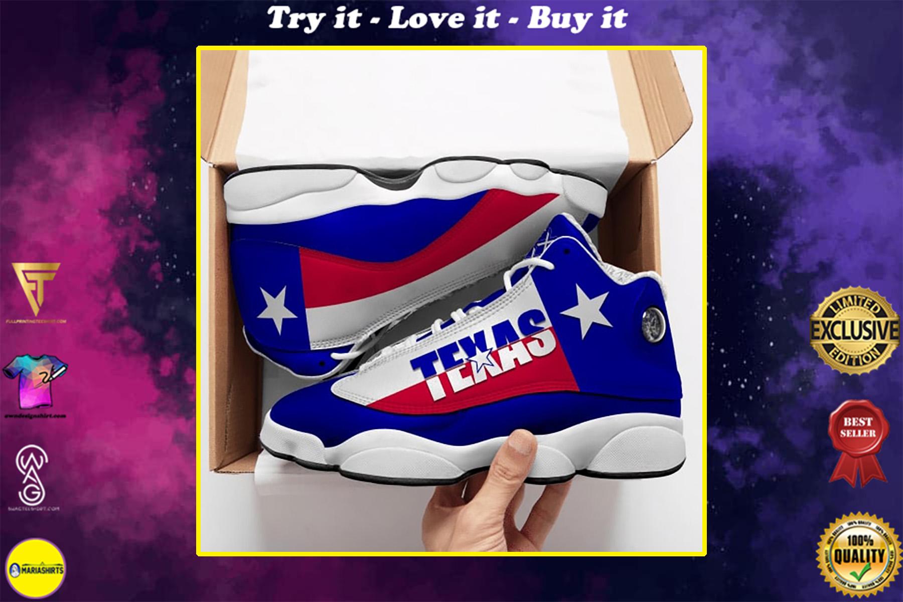 texas flag all over printed air jordan 13 sneakers