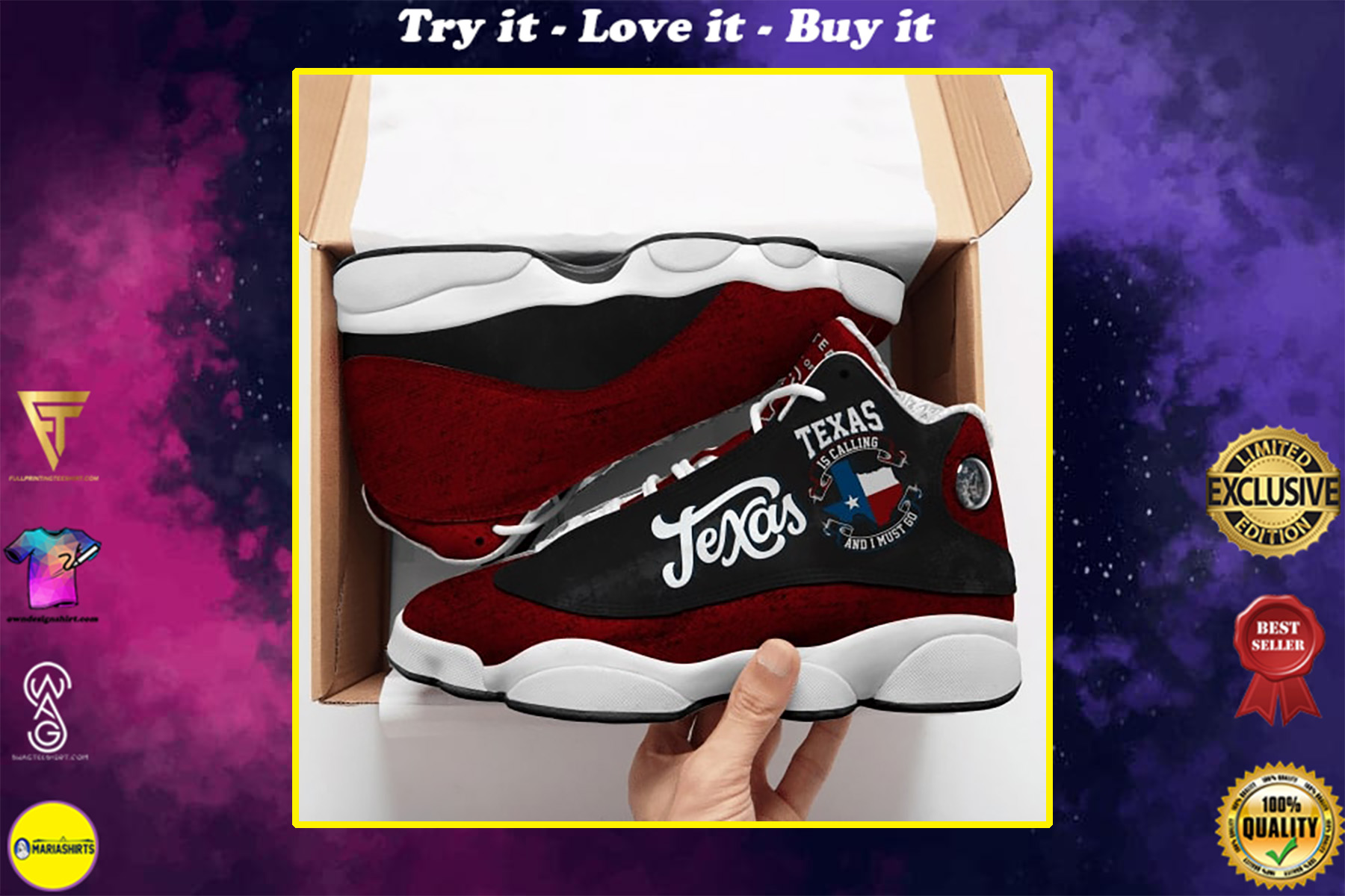texas is calling and i must go all over printed air jordan 13 sneakers