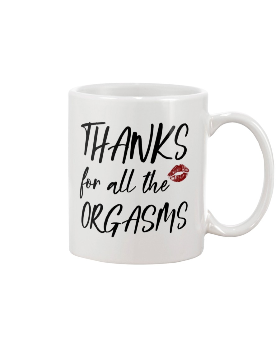thanks for all the orgasms happy valentine's day mug 4