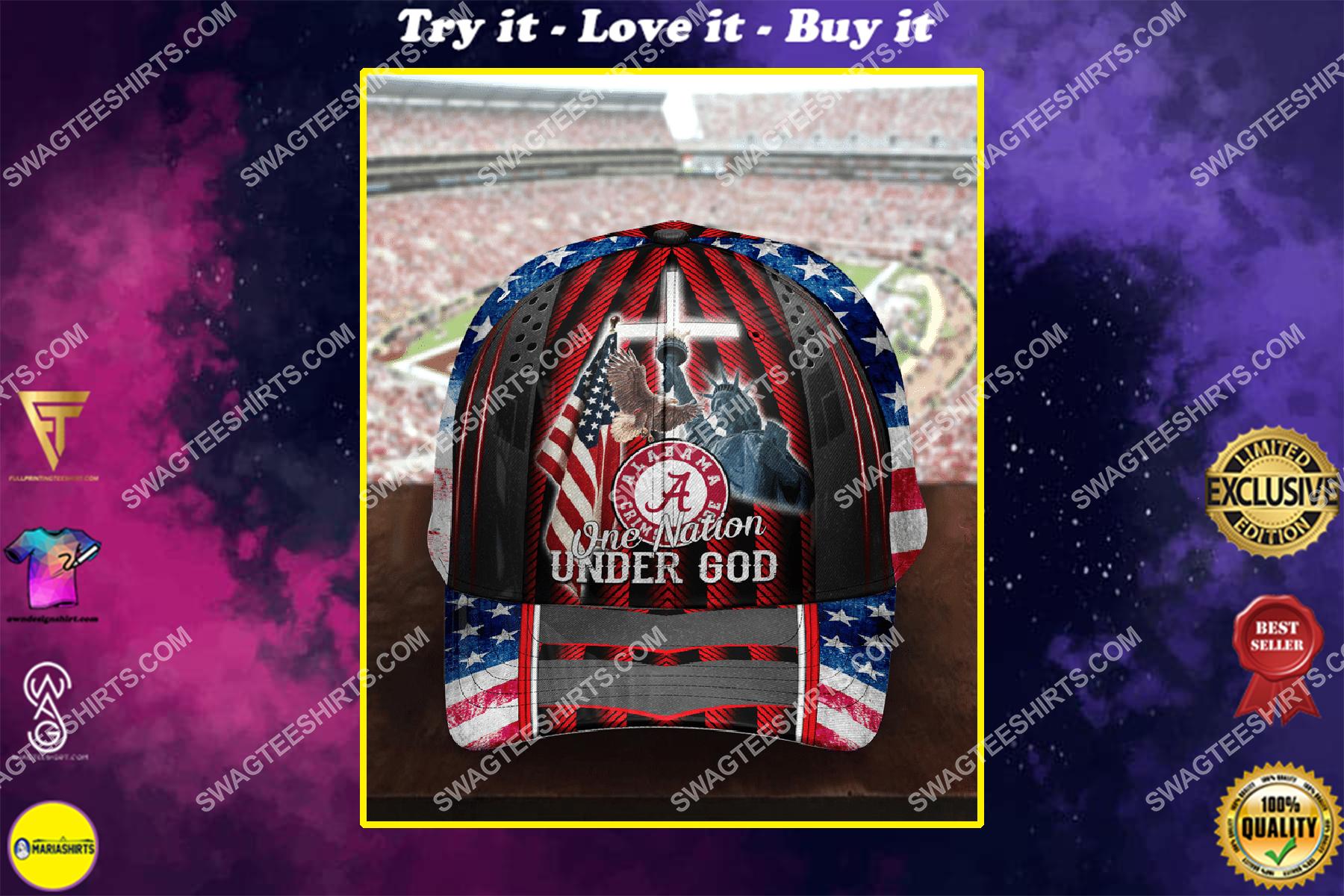 the alabama crimson tide one nation under God full printing cap