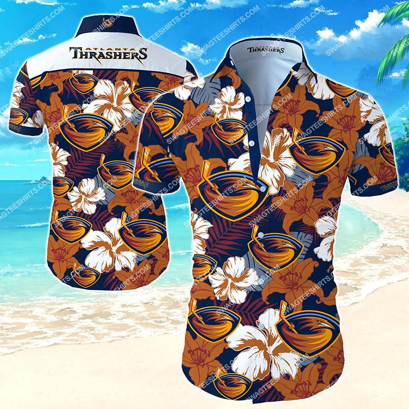 the atlanta thrashers football team hawaiian shirt 2 - Copy