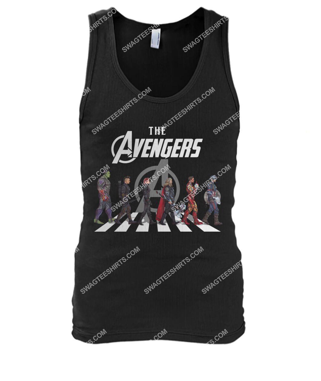 the avengers marvel walking abbey road signature tank top 1