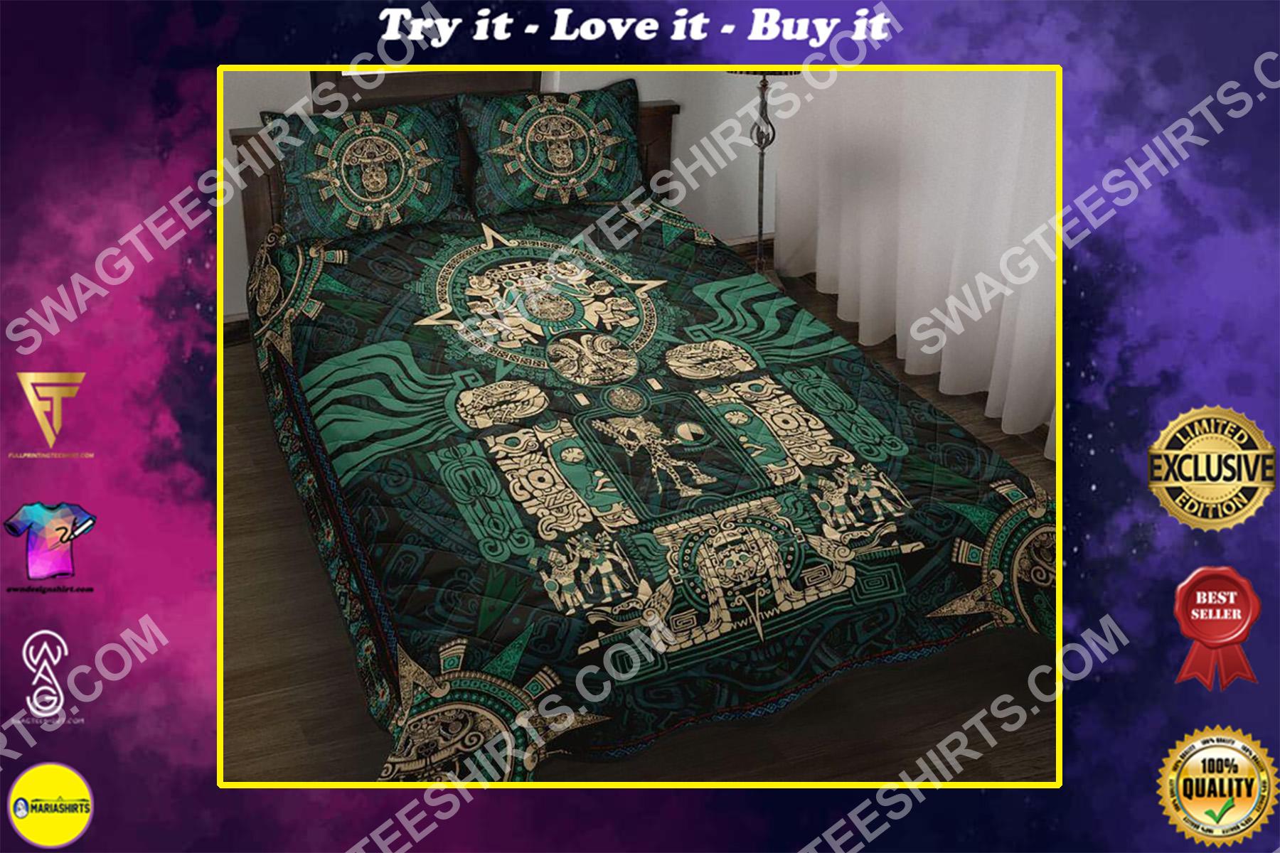 the aztec symbols all over printed bedding set