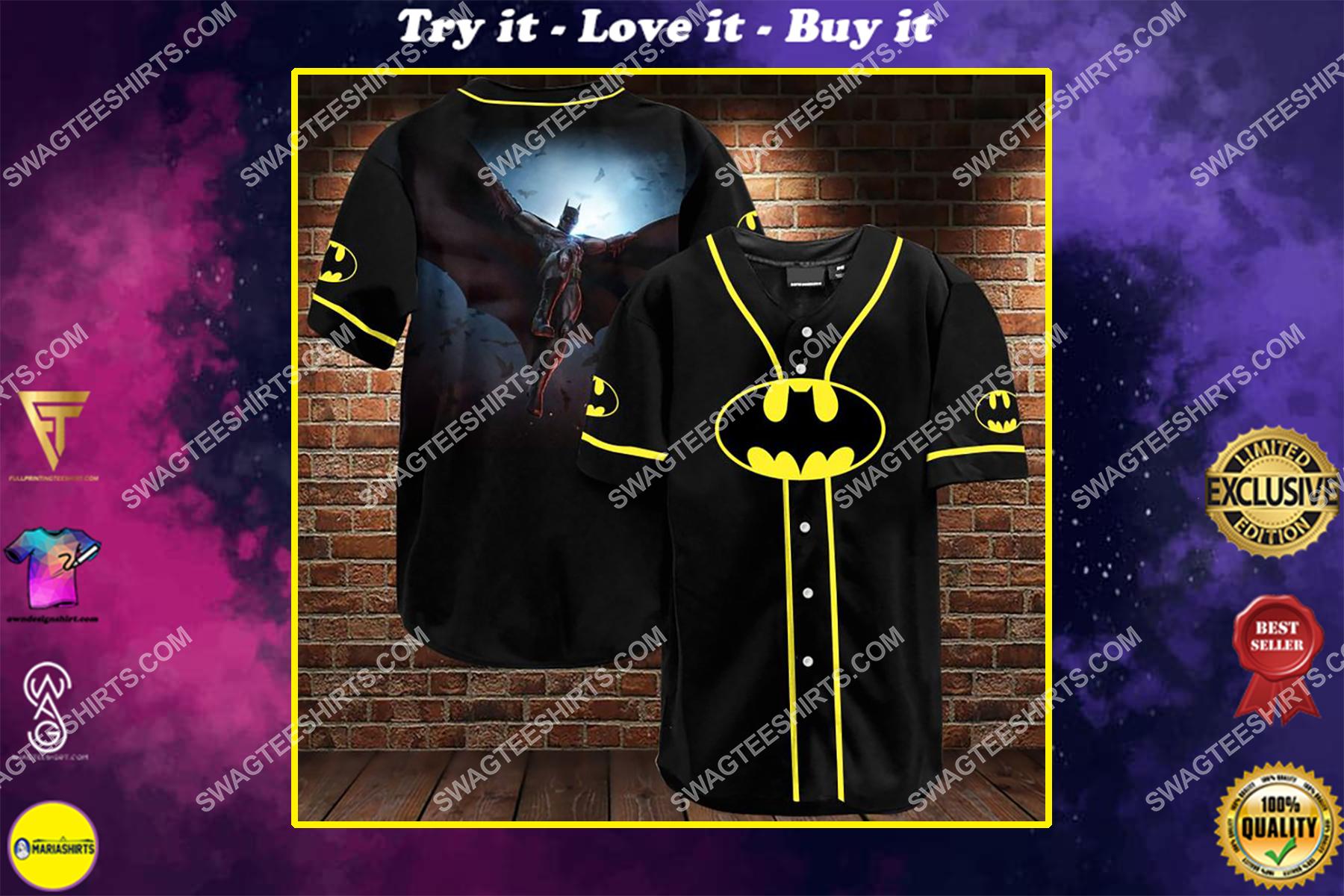the batman all over printed baseball shirt