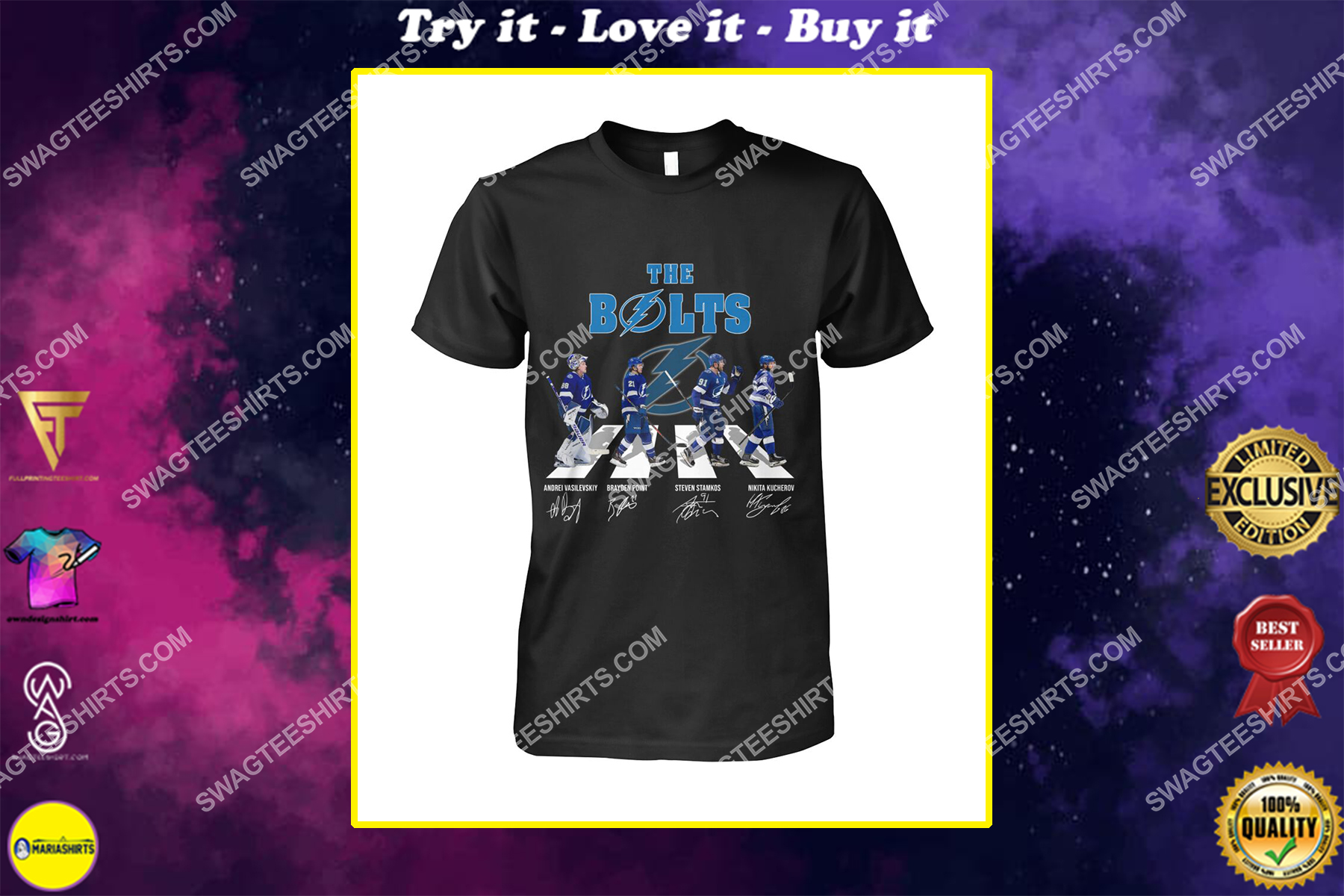 the bolts tampa bay lightning signatures abbey road shirt