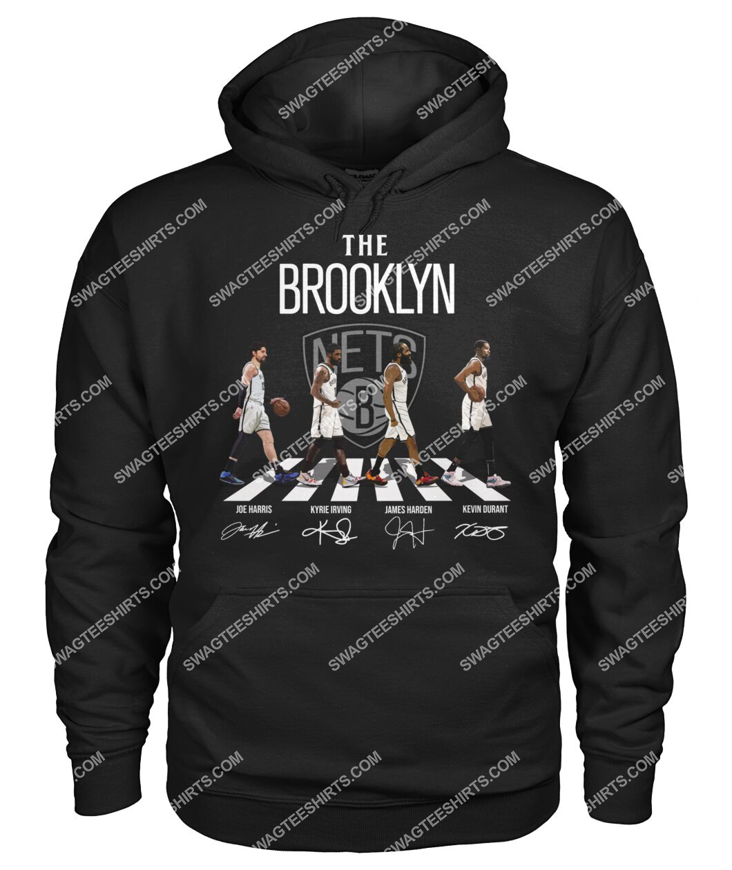 the brooklyn nets walking abbey road signatures hoodie 1