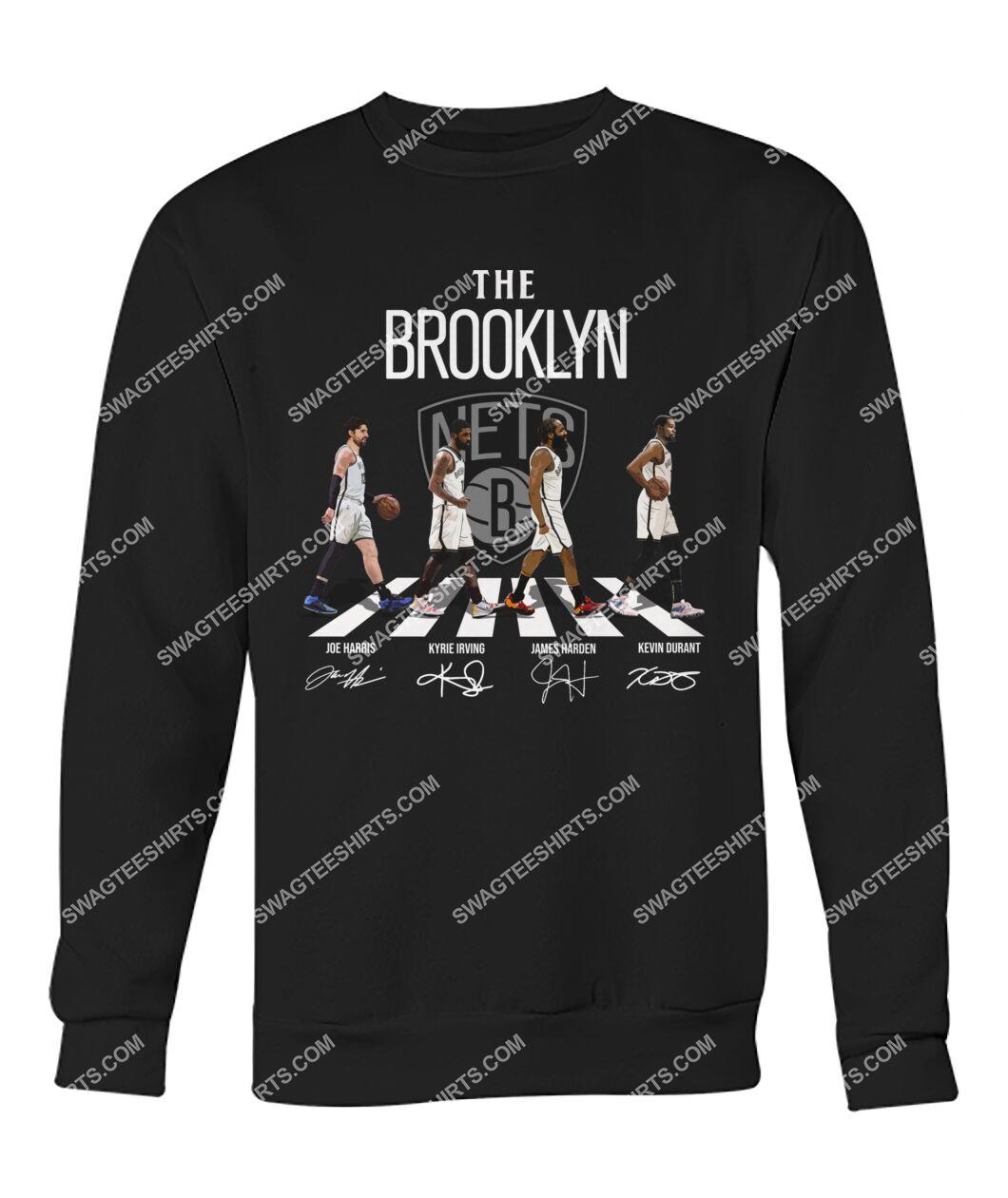 the brooklyn nets walking abbey road signatures sweatshirt 1