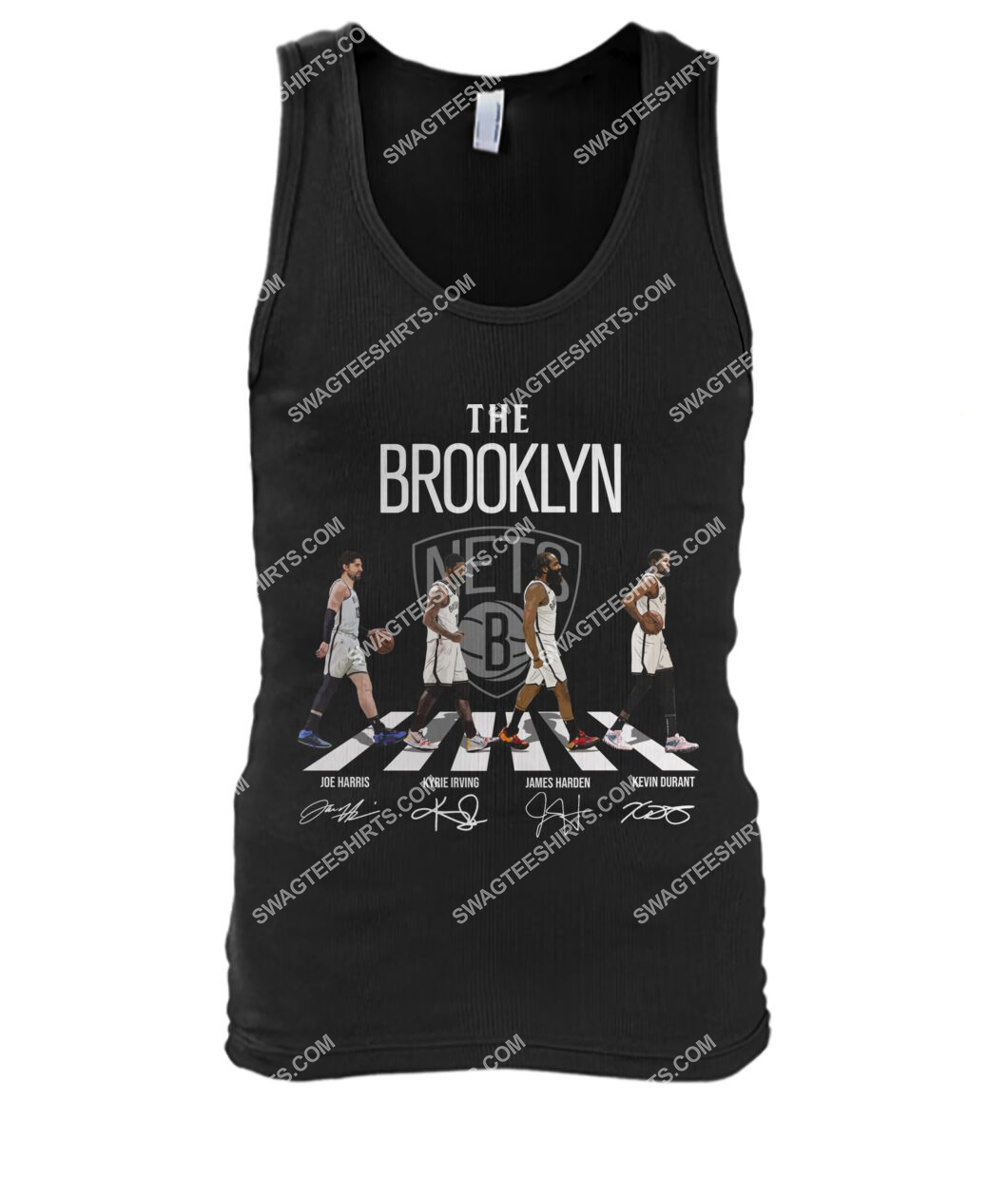 the brooklyn nets walking abbey road signatures tank top 1