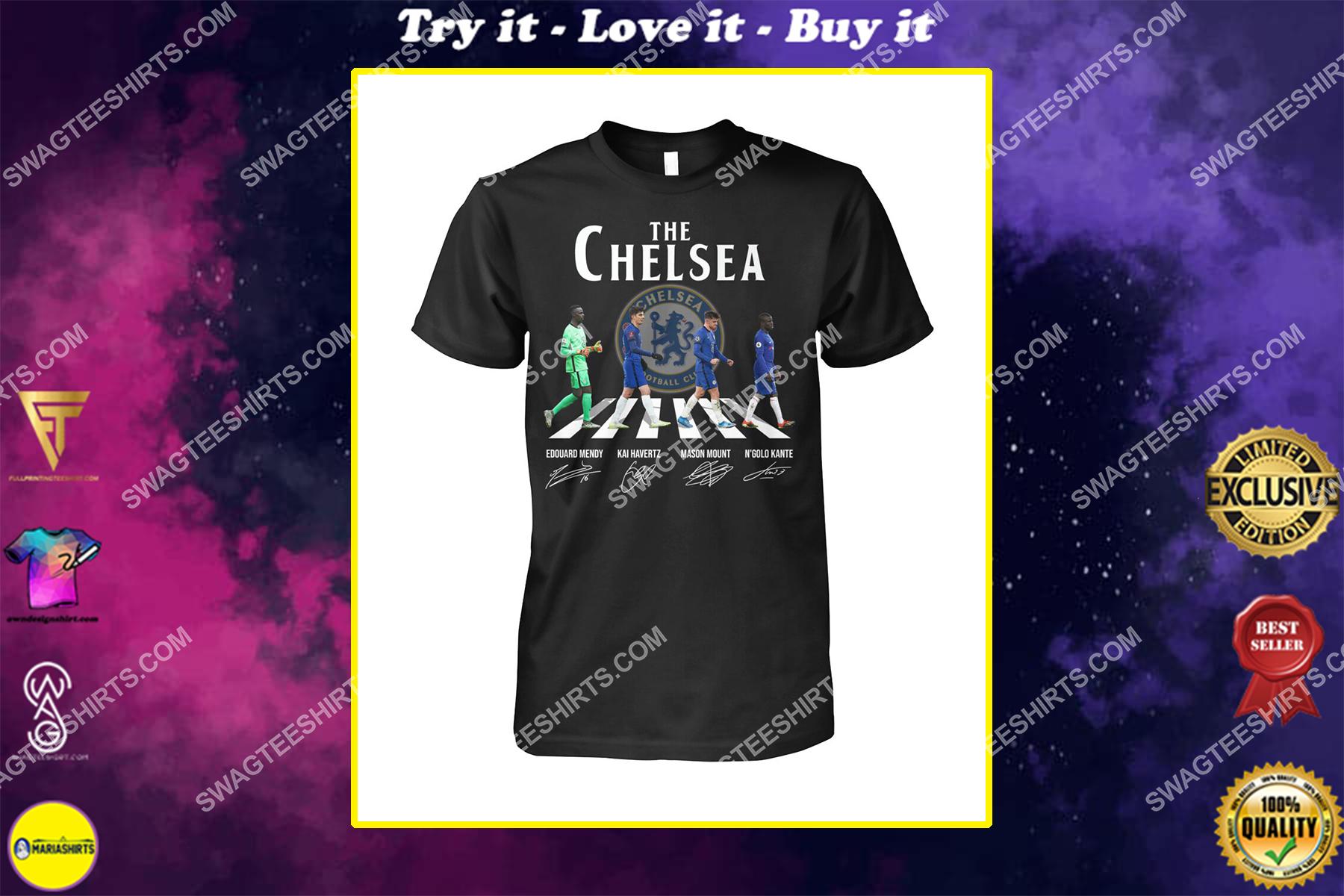 the chelsea fc walking abbey road signature shirt