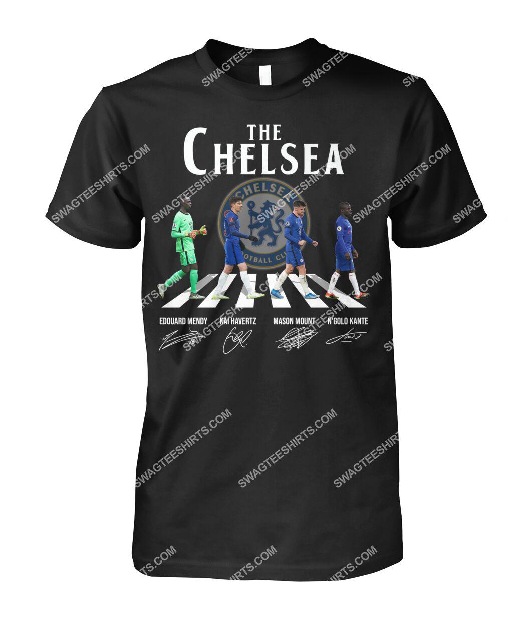 the chelsea fc walking abbey road signature tshirt 1