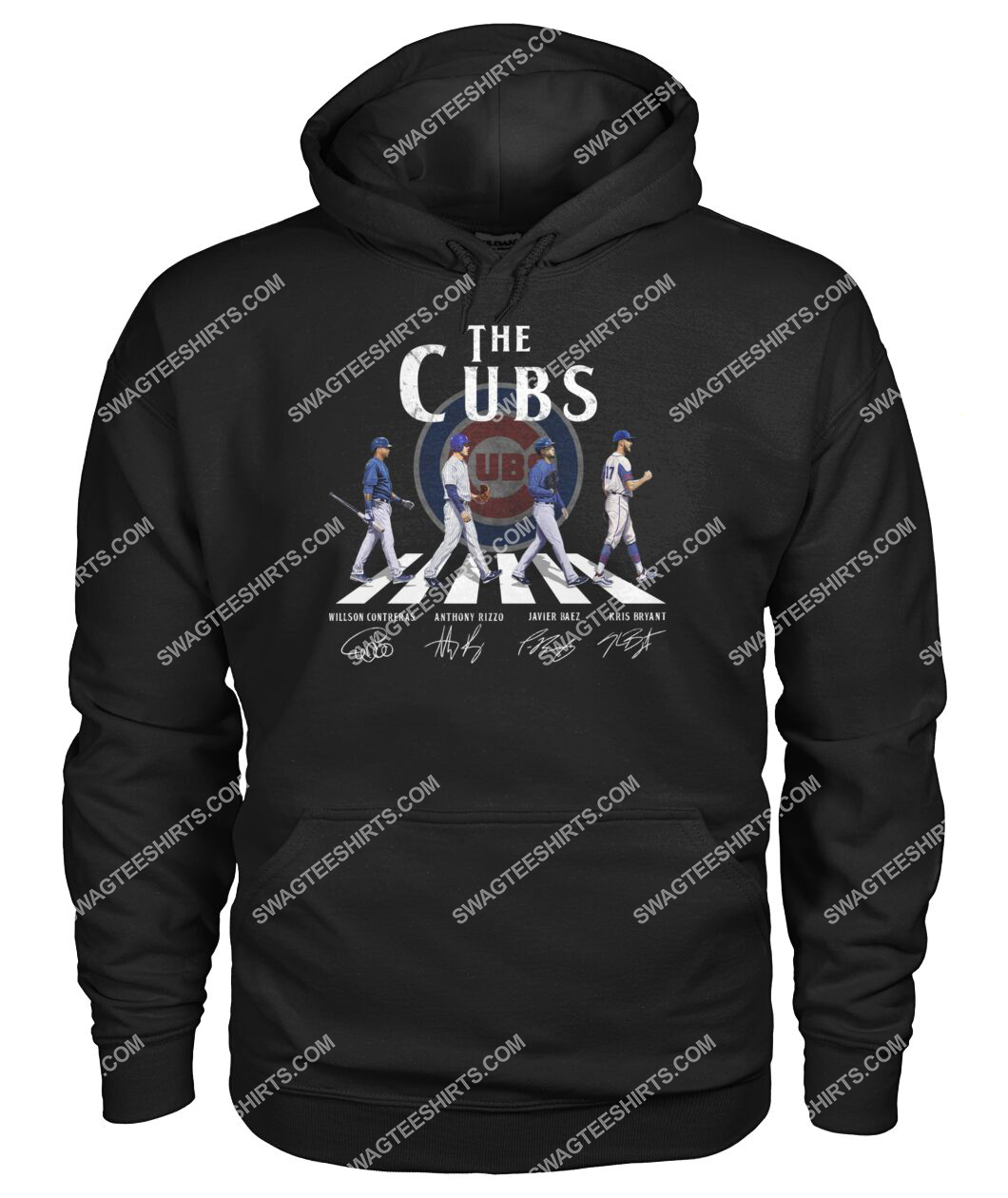 the chicago cubs signatures walking abbey road hoodie 1