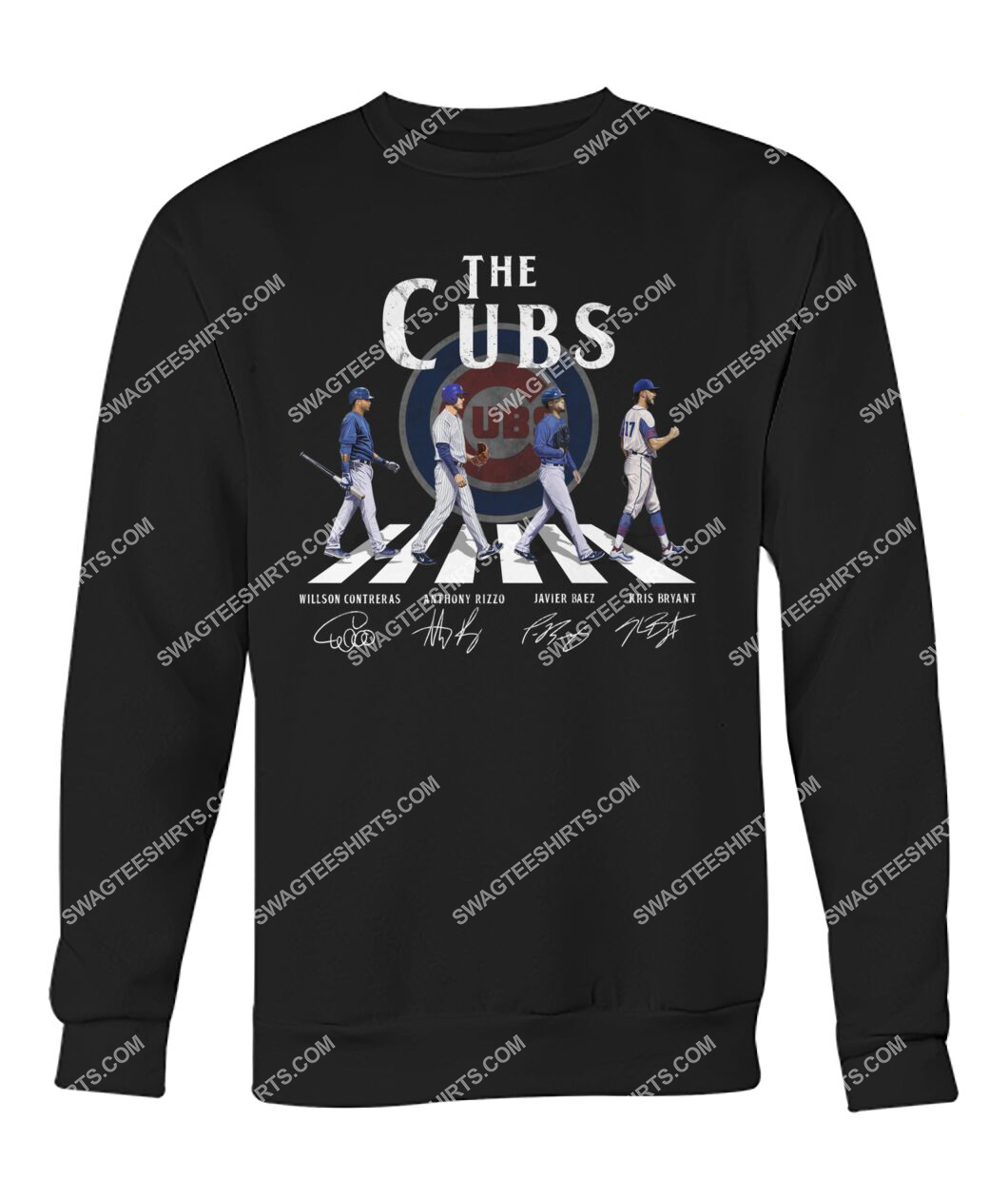 the chicago cubs signatures walking abbey road sweatshirt 1