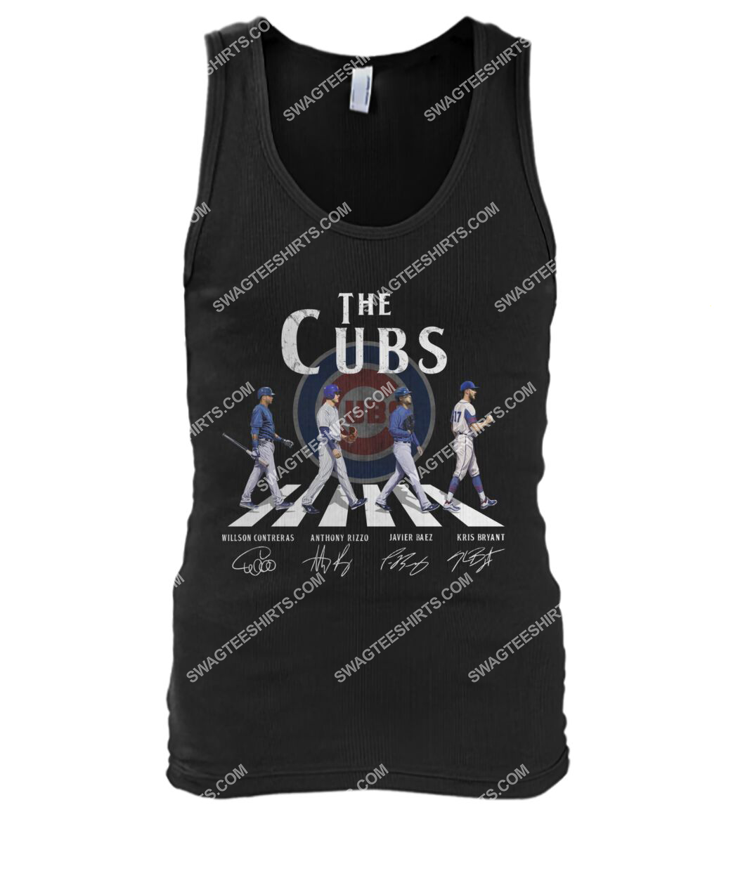 the chicago cubs signatures walking abbey road tank top 1