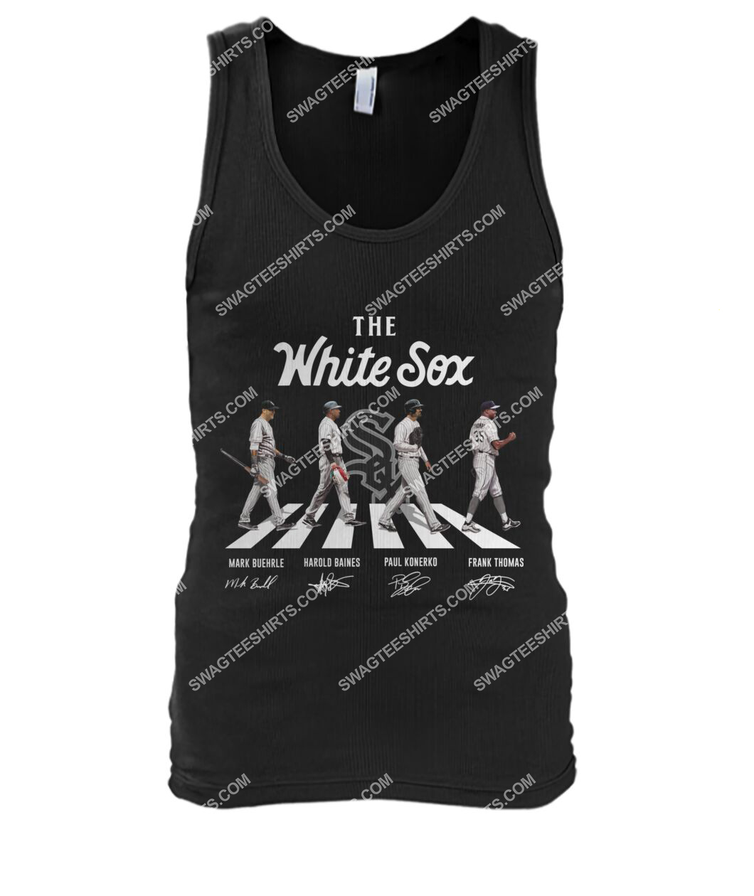 the chicago white sox walking abbey road tank top 1