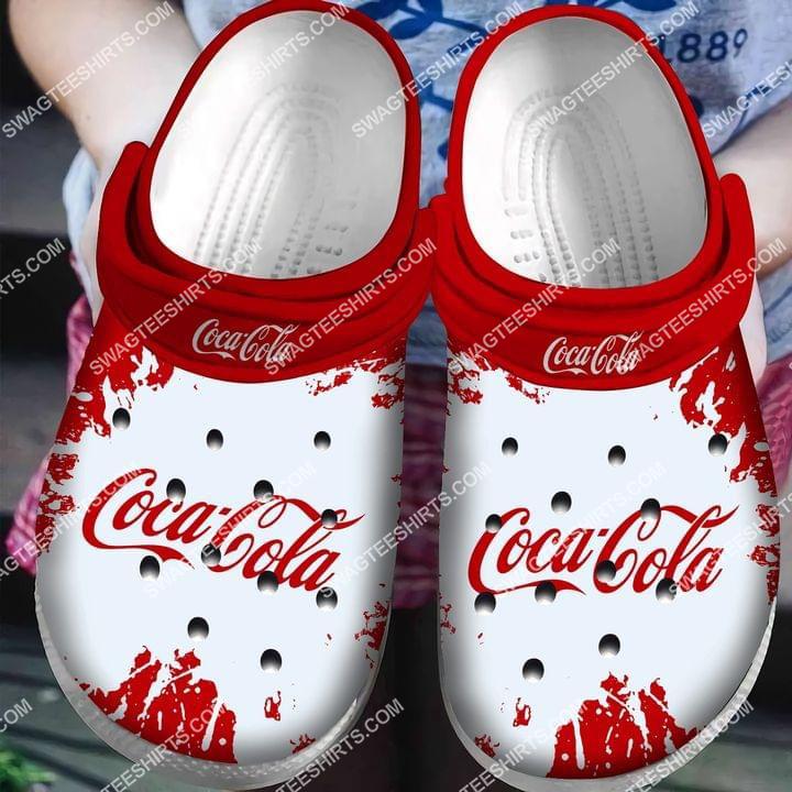 the coca cola all over printed crocs crocband clog