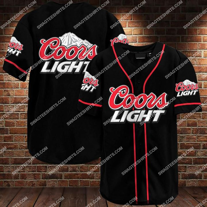 the coors light all over printed baseball shirt 1 - Copy