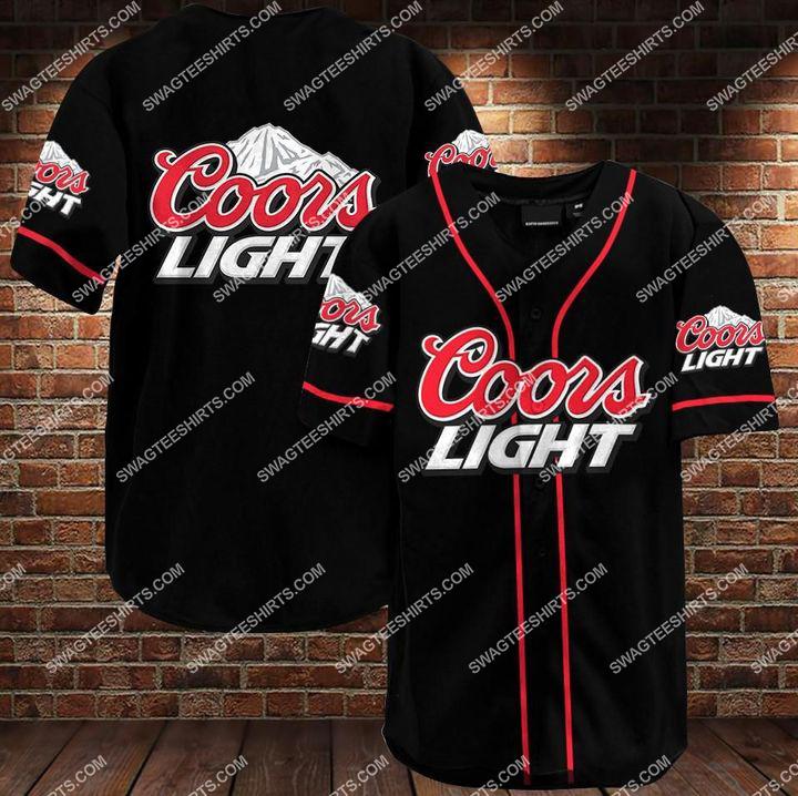 the coors light all over printed baseball shirt 1