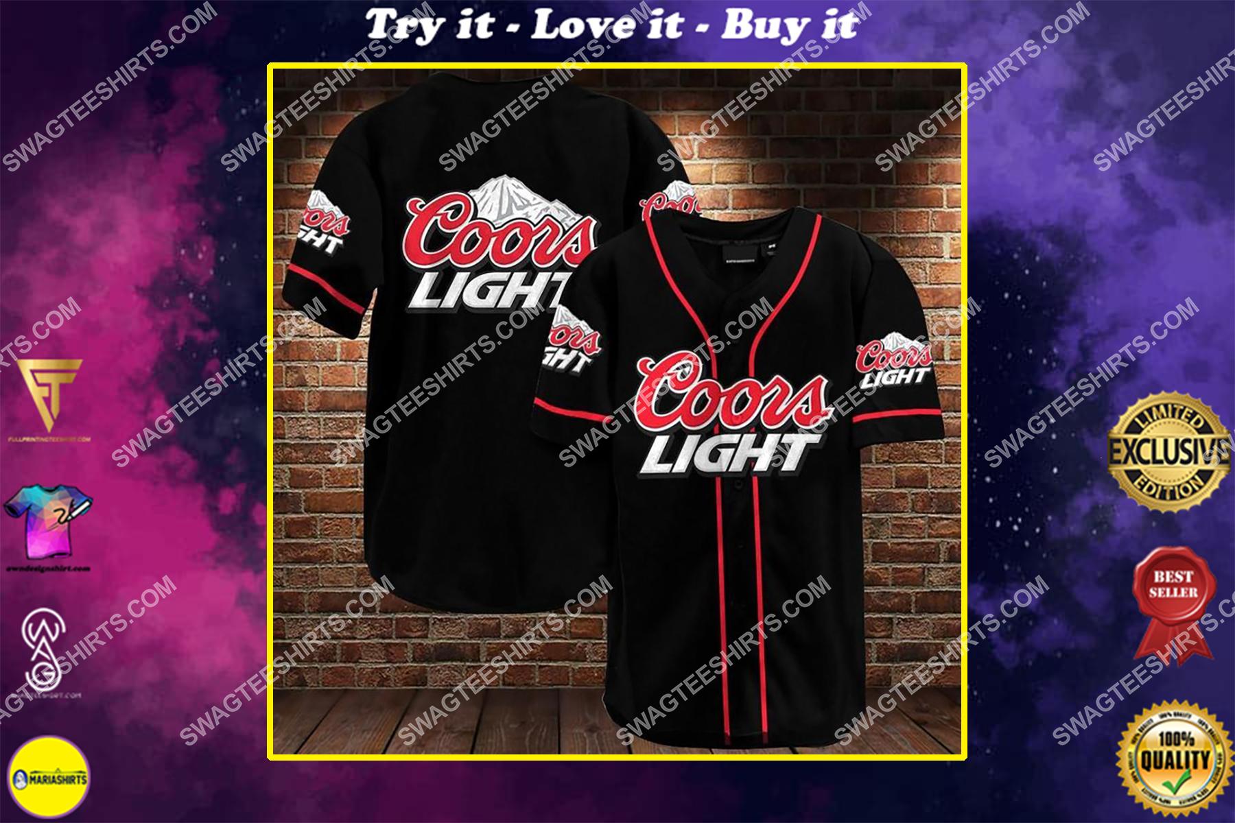 the coors light all over printed baseball shirt