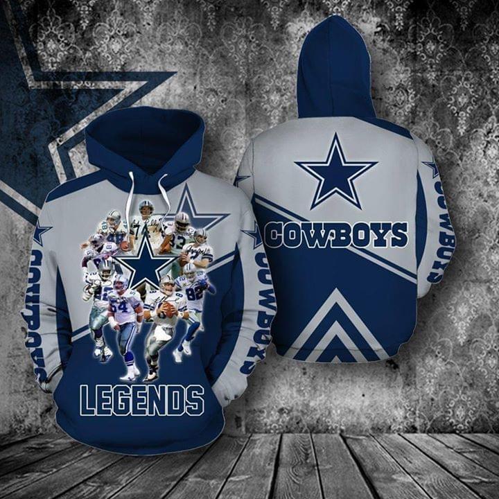 the dallas cowboys legends members full over printed hoodie 1
