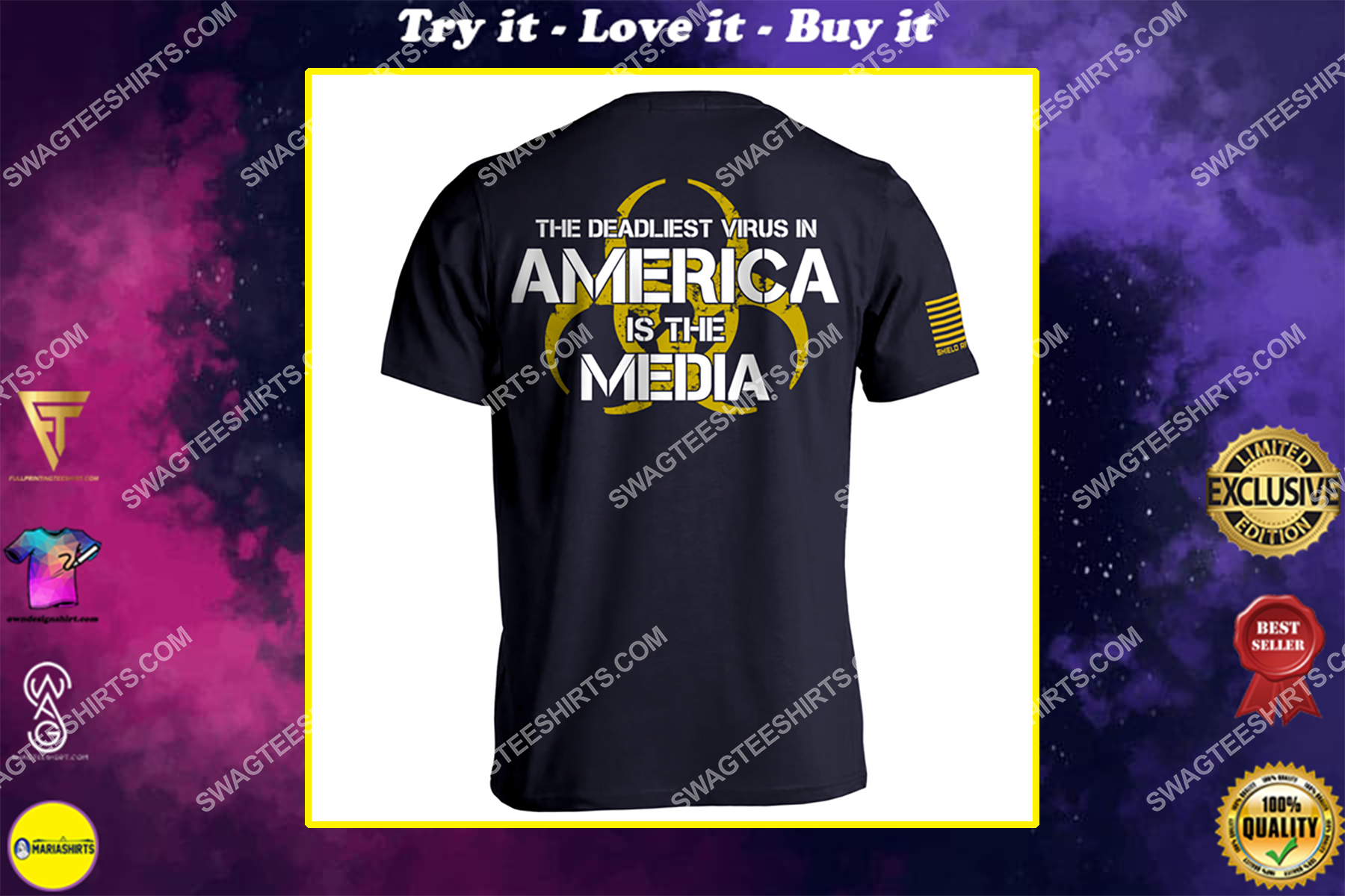 the deadliest virus in america is the media political shirt
