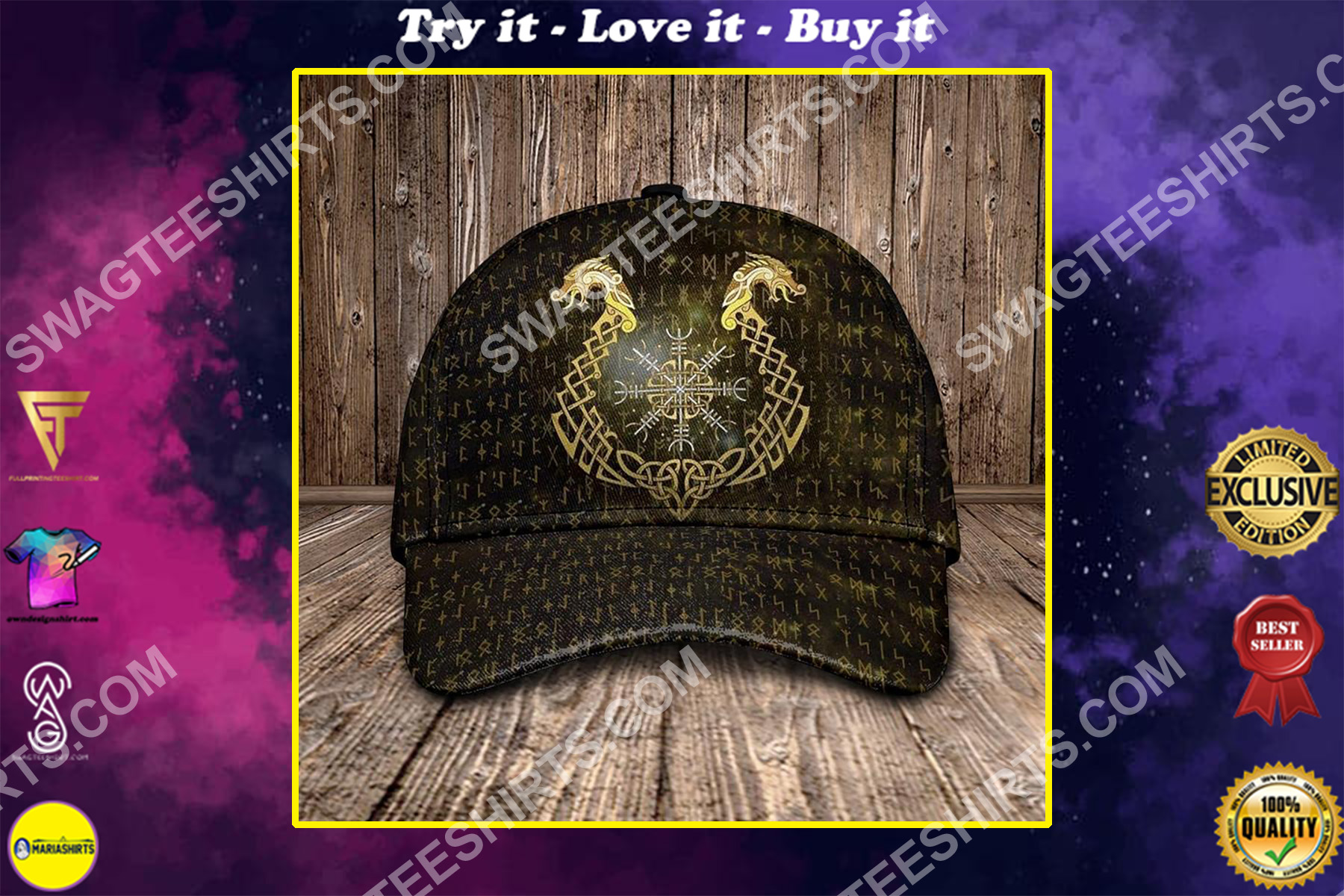 the dragon viking all over printed classic cap