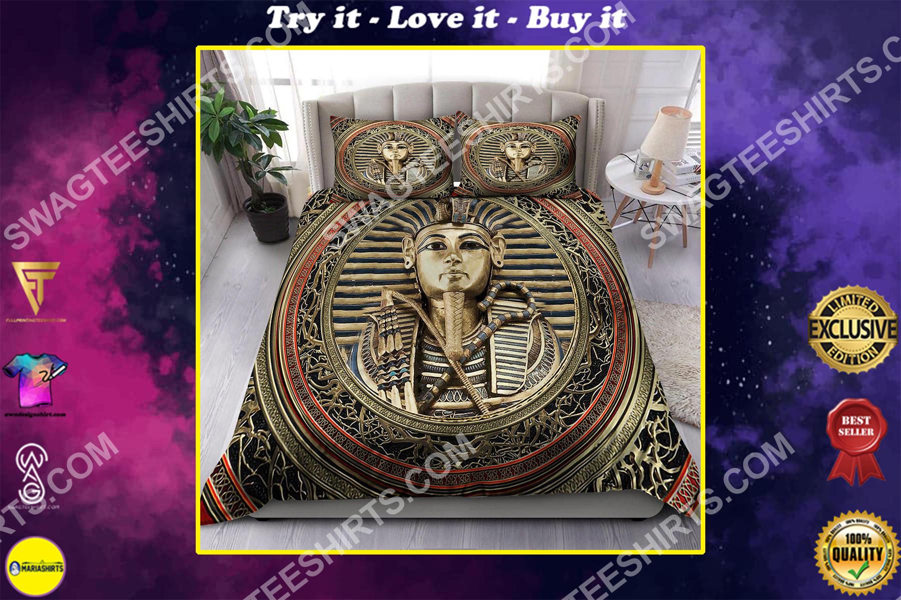 the egypt pharaoh all over printed bedding set