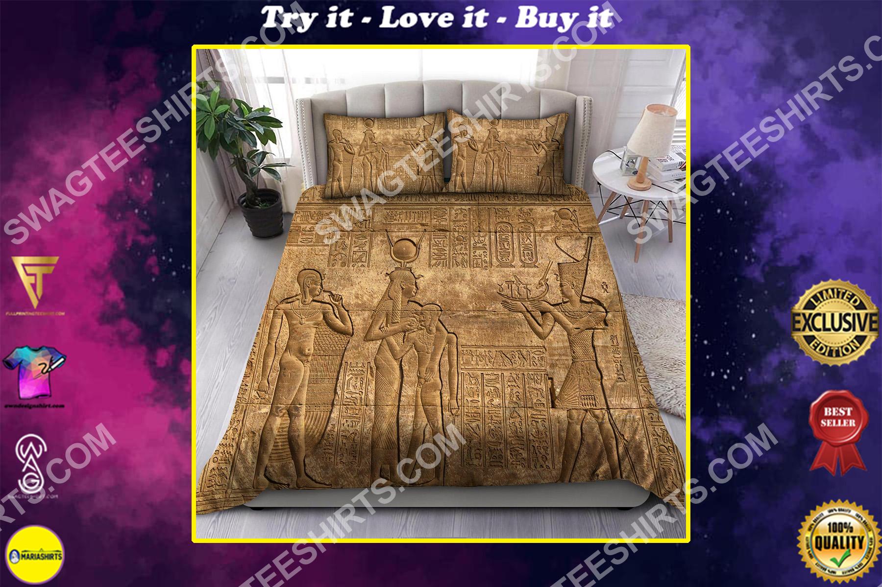 the egyptian mythology all over printed bedding set