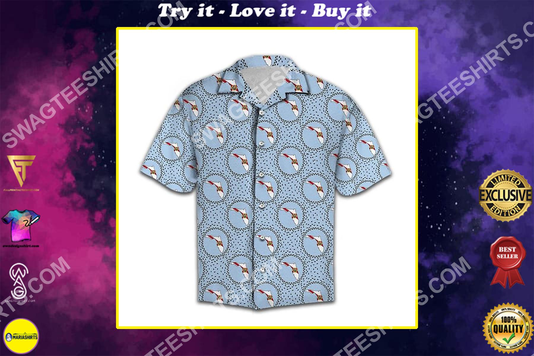 the florida love all over printed hawaiian shirt