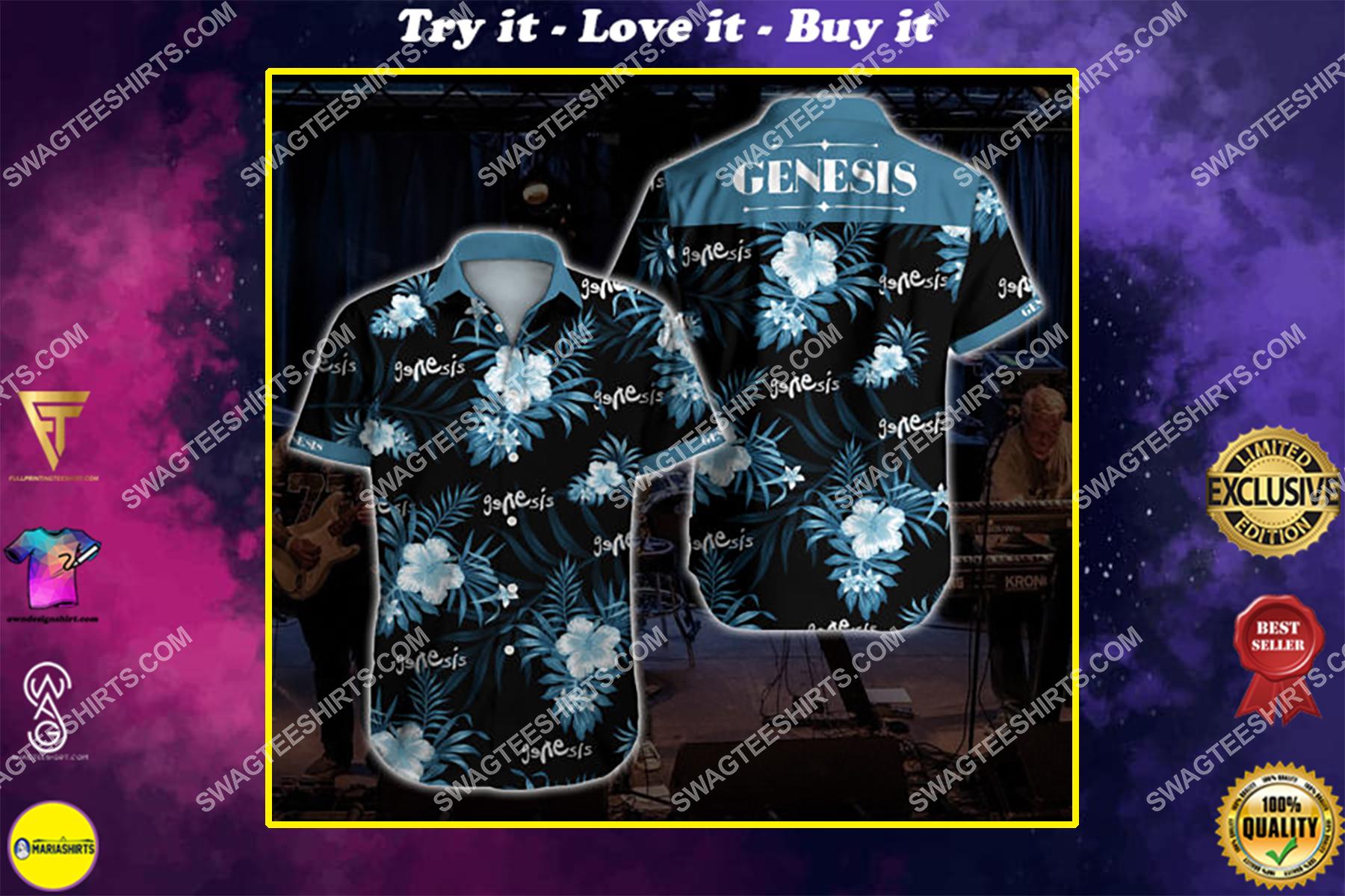 the genesis all over print hawaiian shirt