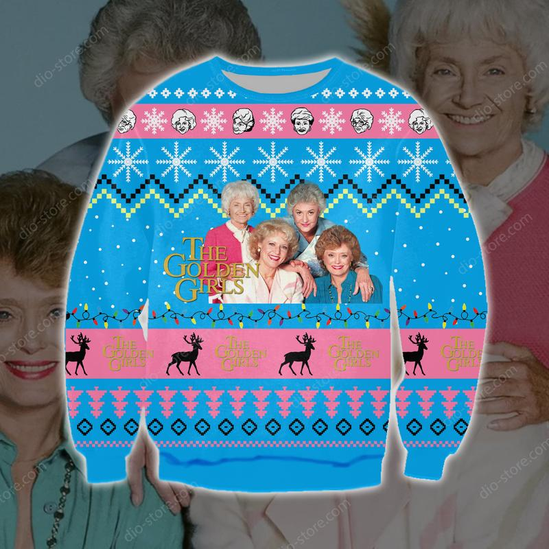 the golden girls full printing ugly christmas sweater 3