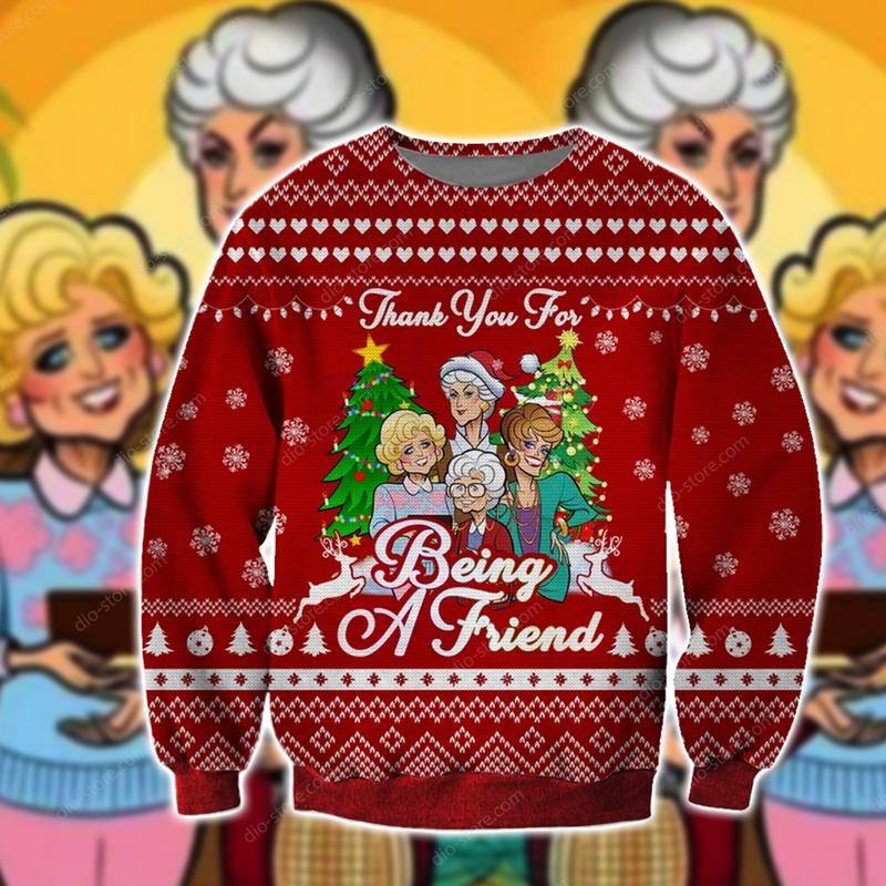 the golden girls thank you for being a friend ugly christmas sweater 2