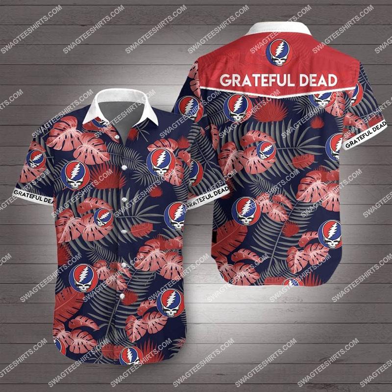 the grateful dead all over print hawaiian shirt 2