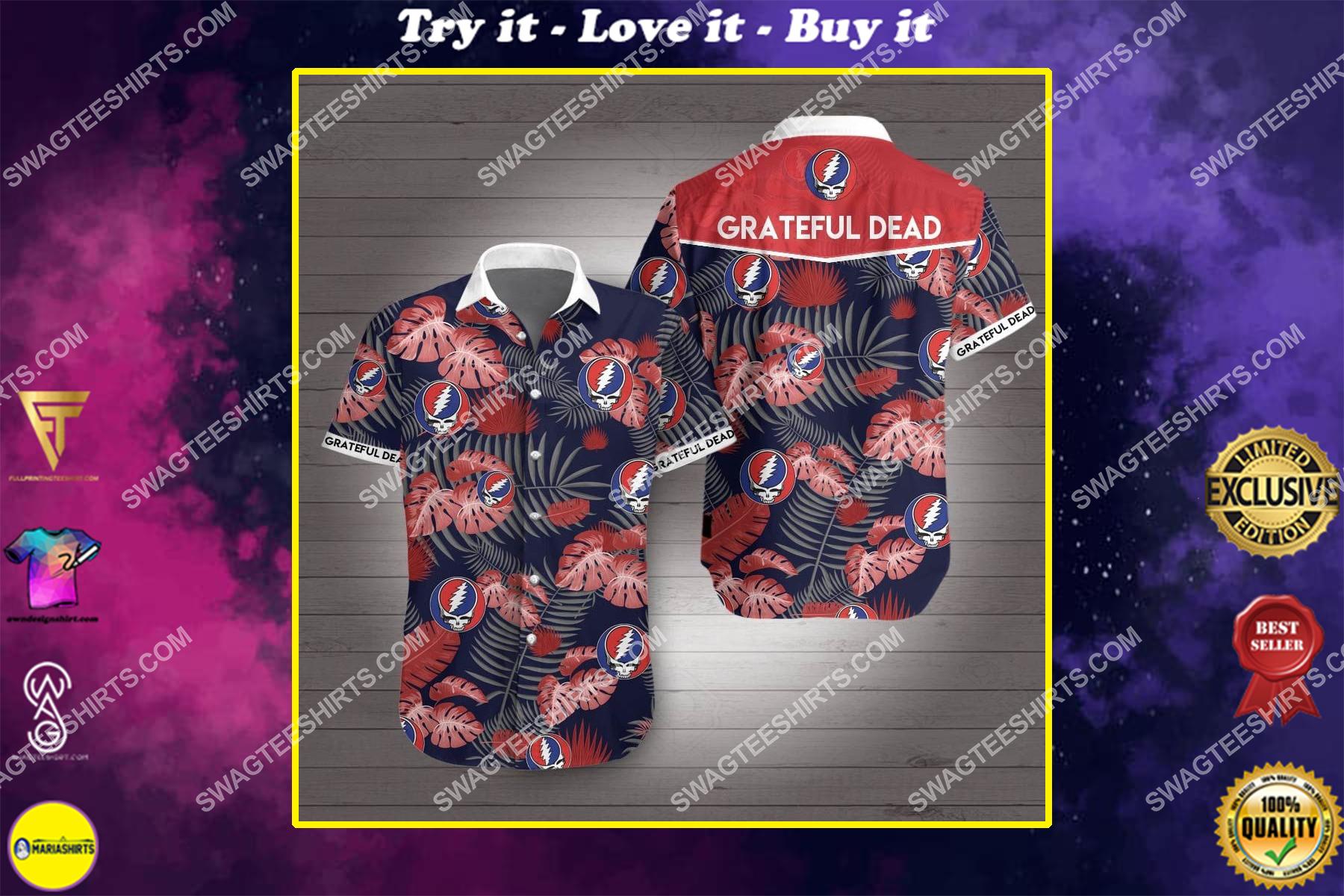 the grateful dead all over print hawaiian shirt
