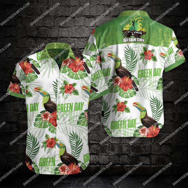 the green day all over print hawaiian shirt 2