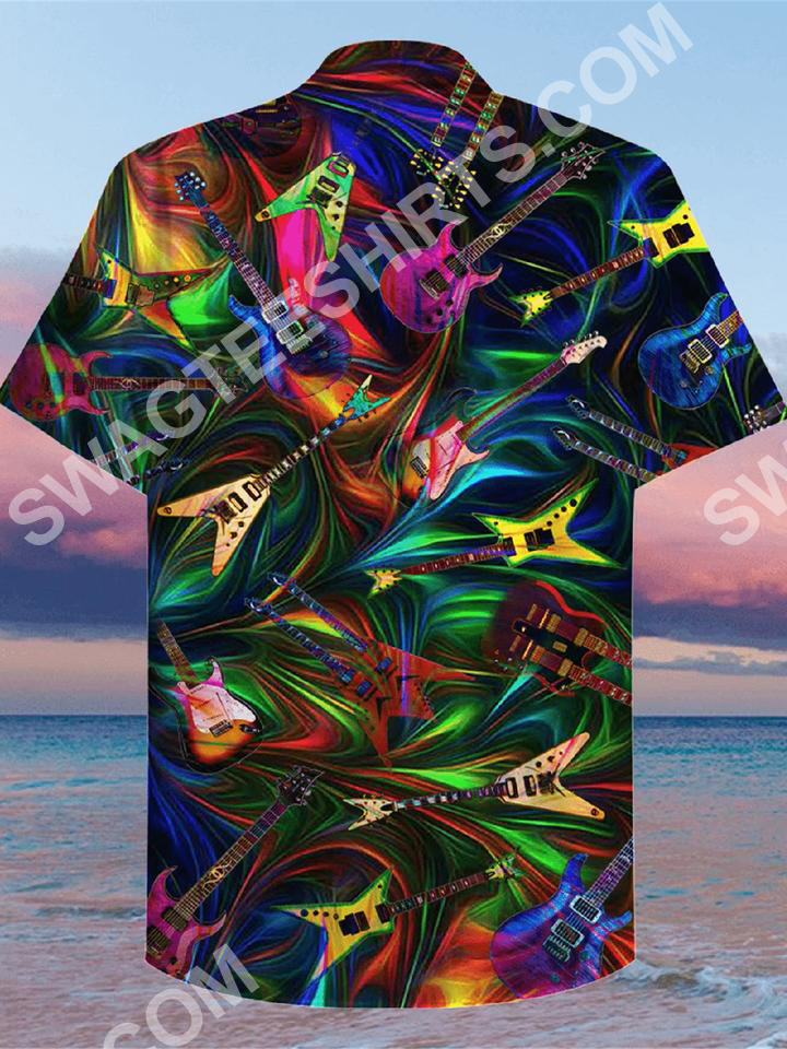 the guitar colorful all over printed hawaiian shirt 3(1)