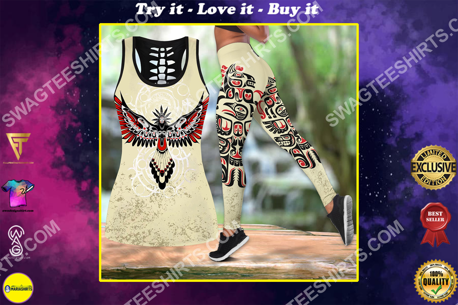 the haida culture all over printed set sports outfit