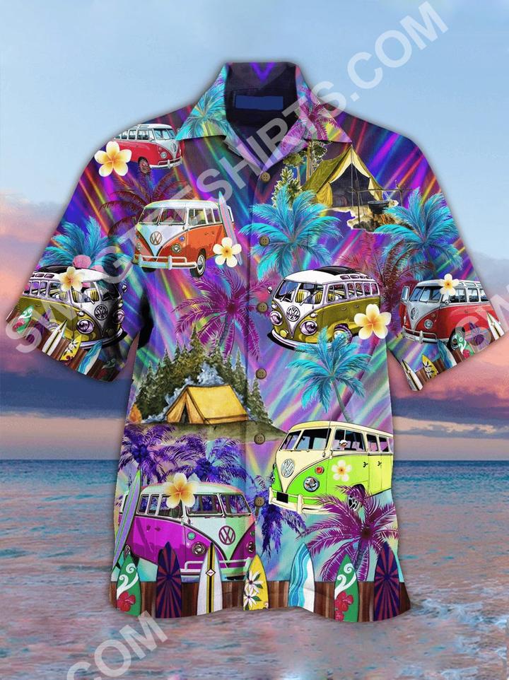 the hippie car all over printed hawaiian shirt 2(1)