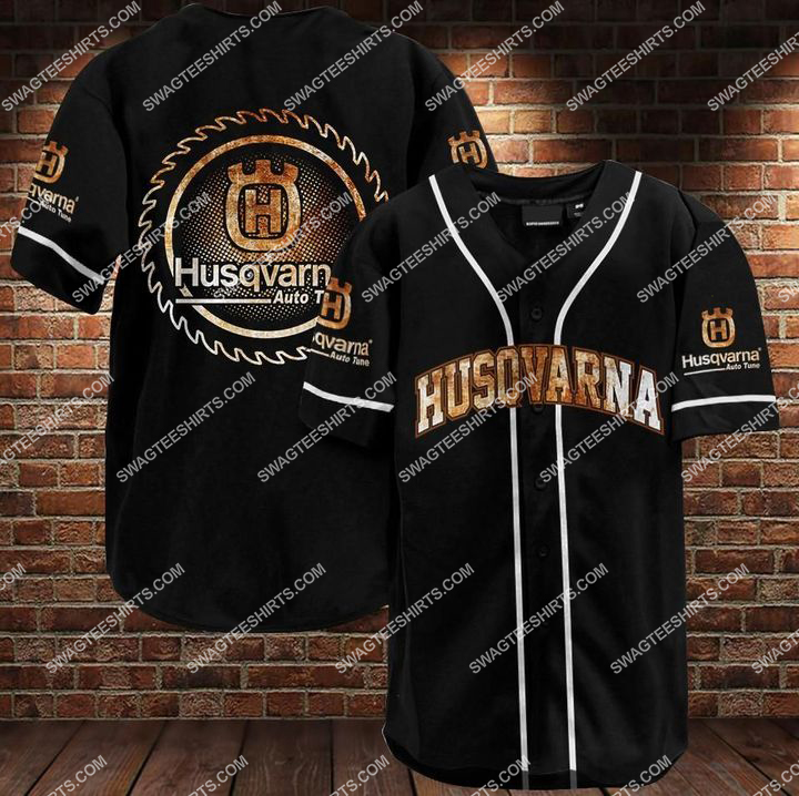 the husqvarna all over printed baseball shirt 1 - Copy