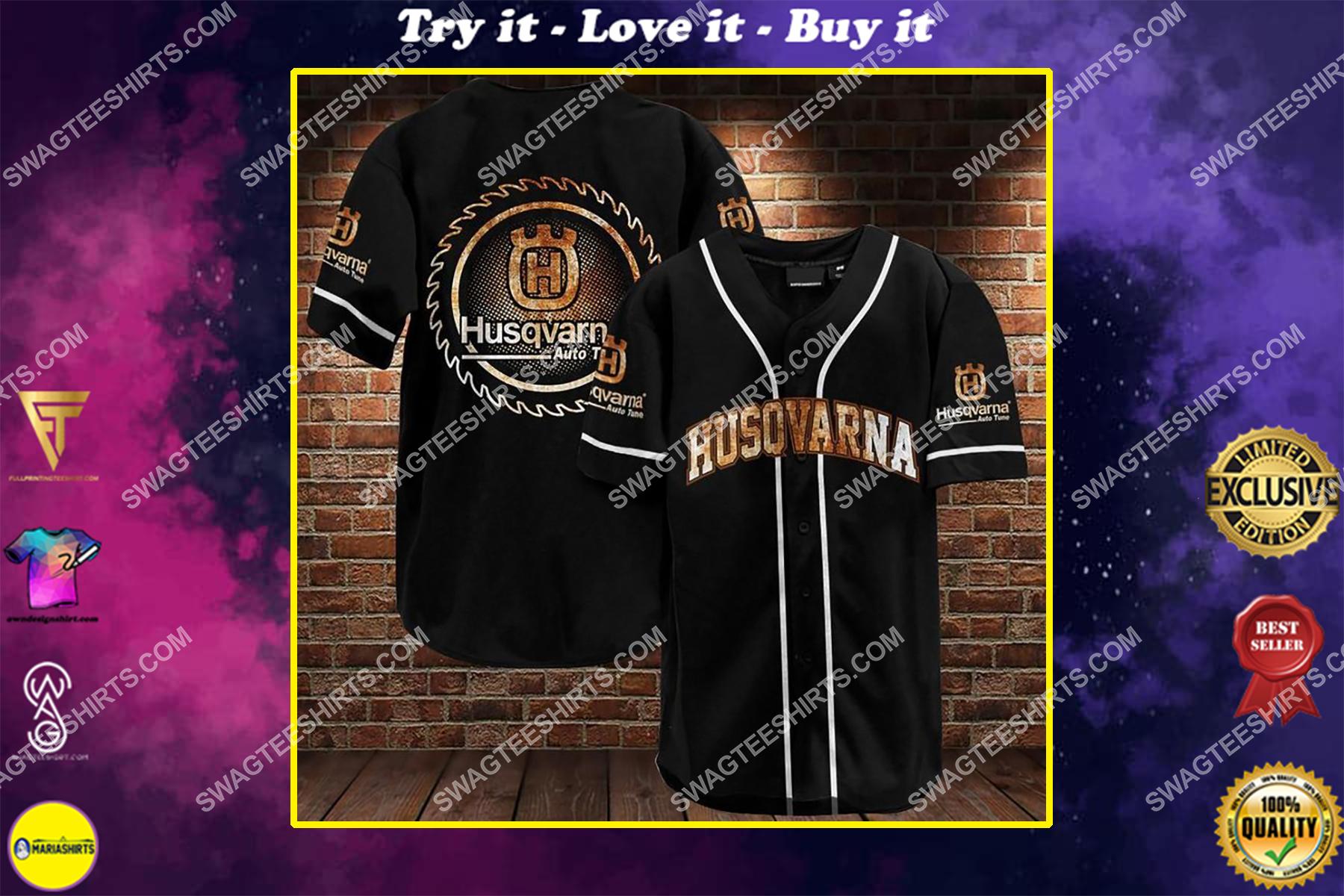 the husqvarna all over printed baseball shirt