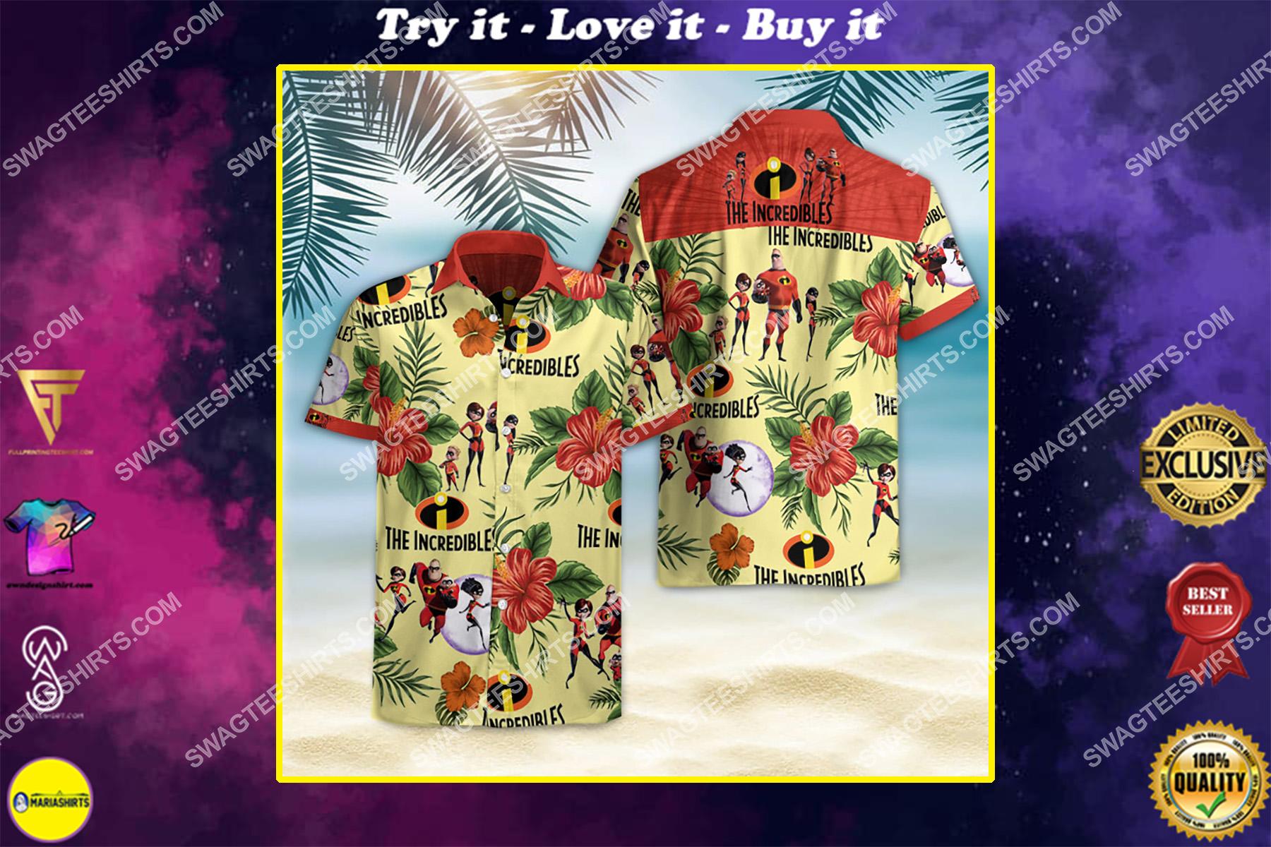 the incredibles movie all over print hawaiian shirt