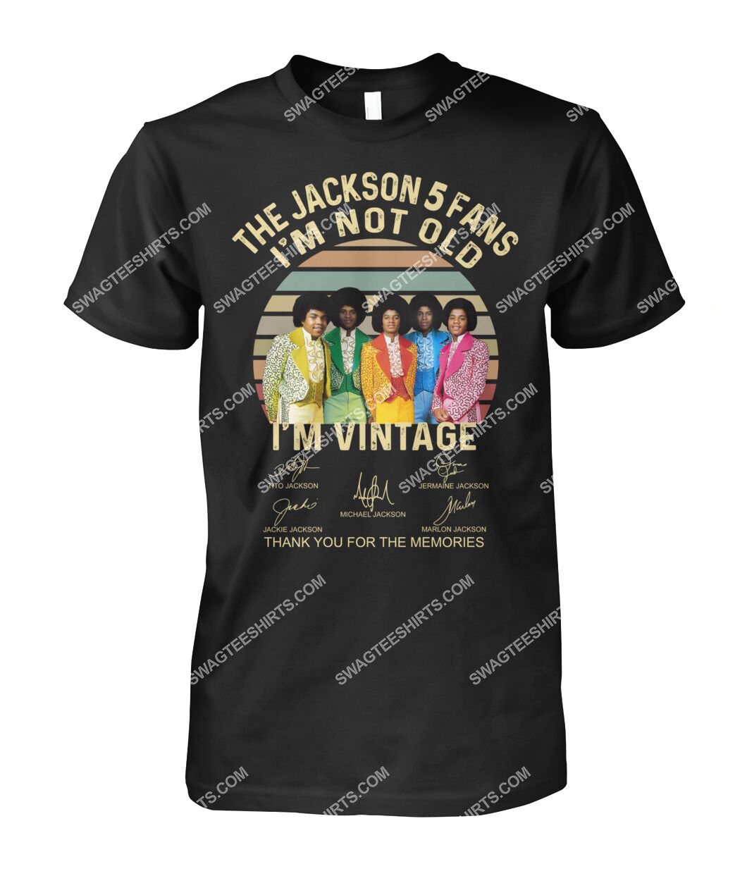 the jackson 5 fans i'm not old i'm vintage tshirt 1